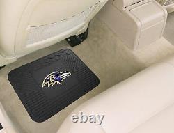 NFL Baltimore Ravens Car Truck Seat Covers Floor Mats & Steering Wheel Cover