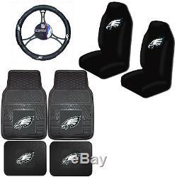 NFL Philadelphia Eagles Car Truck Seat Covers Floor Mats & Steering Wheel Cover