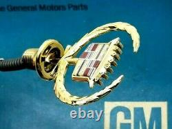 NOS 97 98 99 CADILLAC GOLD DeVILLE HOOD ORNAMENT EMBLEM VOGUE OEM GM VOGUE
