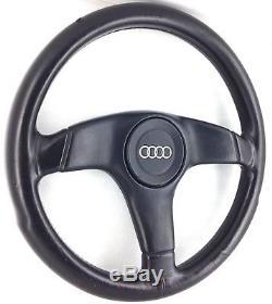 Nardi Audi black leather steering wheel. Genuine. OEM S2 Coupe Avant 80 etc 8A