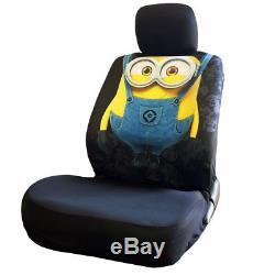 Pleasant New 10 Pcs Despicable Me Minion Car Seat Covers Floor Mats Andrewgaddart Wooden Chair Designs For Living Room Andrewgaddartcom
