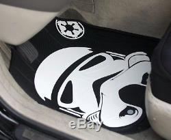 New 10 Pcs Star Wars Stromtrooper Car Seat Covers Floor Mats Steering Wheel Gift