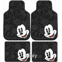 New 11pc Mickey Mouse Car Floor Mats Seat Covers & Steering Wheel Cover Gift Set