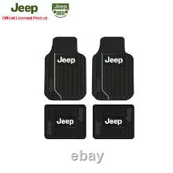 New 11pcs JEEP Elite Style Car Truck Seat Covers Floor Mats Steering Wheel Cover