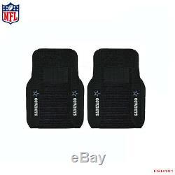 New 5pcs NFL Dallas Cowboys Car Truck Seat Cover Floor Mats Steering Wheel Cover