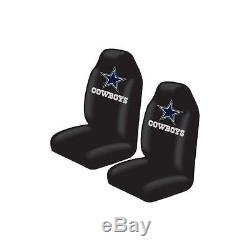 New 7pcs NFL Dallas Cowboys Car Truck Seat Cover Floor Mats Steering Wheel Cover