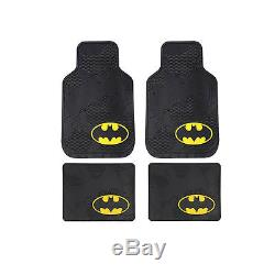 New 9pcs Set Batman Car Truck Seat Covers Floor Mats Steering Wheel Cover