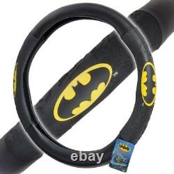 New Batman Front Back Car Truck Floor Mats Seat Covers & Steering Wheel Cover