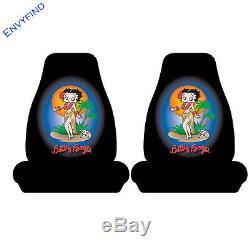 New Betty Boop Hawaiian Dancing 7Pc Floor Mat Seat Covers Steering Wheel Cover
