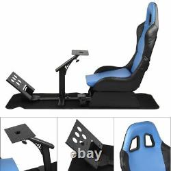 New Driving Simulator Seats with Steering Wheel Stand Adjustable Racing Gaming US