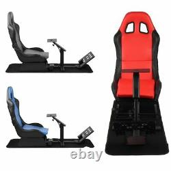 New Evolution Simulator Cockpit Steering Wheel Stand Racing Seat Gaming Chair US