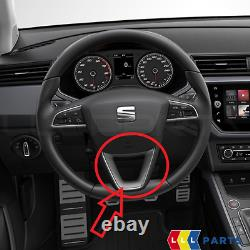 New Genuine Seat Ateca 2017-2020 Steering Wheel Trim Silver 575072390aup7