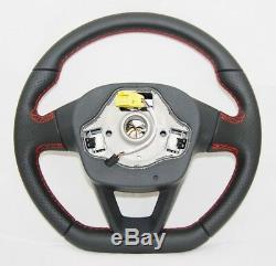 New Genuine Seat Fr Flat Bottom Multifunction Steering Wheel 7n5419091f Ngv