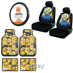 Peachy New Minions Car Truck Front Rear Floor Mats Seat Covers Andrewgaddart Wooden Chair Designs For Living Room Andrewgaddartcom