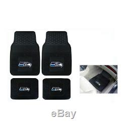New NFL Seattle Seahawks Sideless Seat Covers Floor Mats Steering Wheel Cover