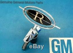 Nos 1973 Buick Riviera Header Panel Emblem Hood Ornament Boat Tail Oem Gm Trim