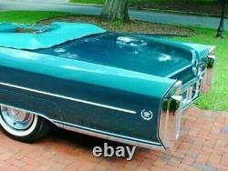 Nos 63 66 Cadillac Eldorado Fleetwood Limo Crest Wreath 1/4 Panel Emblem Set Gm
