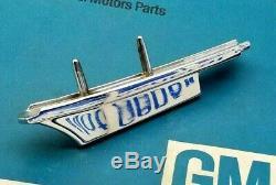 Nos 67 68 Cadillac Eldorado Hood Ornament Spear Molding Gm Lip Crest Crown Trim