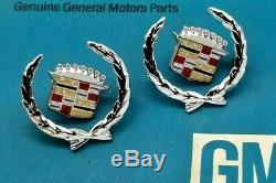 Nos 76 77 78 79 Cadillac Seville Crest Wreath Roof Emblem Set Sail Panel Gm Trim