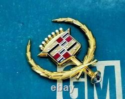 Nos 80 81 82 83 84 85 Cadillac Seville 24k Gold Hood Ornament Emblem Oem Gm Trim