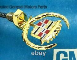 Nos 80 92 Cadillac 24k Gold Fleetwood Brougham Hood Ornament Header Panel Emblem