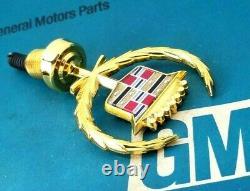 Nos 85 93 Cadillac 24k Gold Deville Fleetwood Hood Ornament Emblem Gm