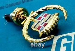 Nos 85 93 Cadillac Gold Plated Deville Fleetwood Hood Ornament Emblem Gm