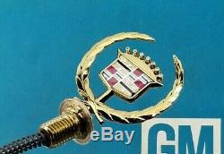 Nos 94 95 96 Cadillac Deville Honey Gold Hood Ornament Emblem New Oem Gm Trim