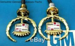 Nos 97 98 99 Cadillac Deville Honey Gold Hood Ornament Emblem New Oem Gm Trim