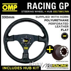 OMP RACING GP 330mm STEERING WHEEL & HUB for SEAT LEON MK1 ALL 01-06