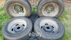 ORIGINAL GM 1968 Corvette AG 4 Complete Matching 15x7 Rally Wheels Kelsey Hayes