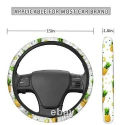Ocean Theme Car Seat Covers Steering Wheel Cover Auto Accessory 13Pcs Full Set