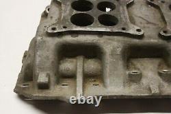 Original Dodge Plymouth Mopar Poly V8 Engine Dual Quad Aluminum Intake 1735919