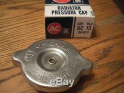 Original NOS BIG Ear RC15 Radiator Cap Shines AC Show Car Mint box