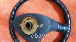 RARE 96-00 Honda Civic EK leather steering wheel non-SRS EJ9, EK3, EK4, EK9
