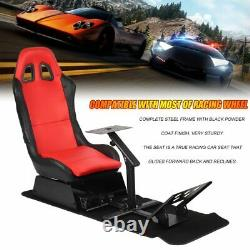 Racing Chair Gaming Seat Driving Stand Simulator Cockpit With Steering Wheel HOT