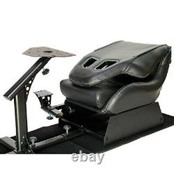 Racing Seat Gaming Chair Simulator Cockpit Steering Wheel Stand F1 Fits Adults +