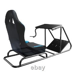 Racing Seat Gaming Chair Simulator Cockpit Steering Wheel Stand GT Fits Adults