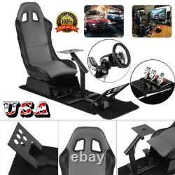Racing Simulator Cockpit Adjustable Driving Gaming Seat withSteering Wheel US