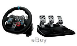 Racing Simulator Seat Cockpit G29 & RS8 Mach 5 Steering & Wheel Stand Logitech