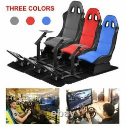 Racing Simulator Seat With Steering Wheel Support Durable Driving Seat US