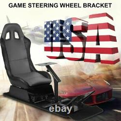 Racing Simulator Seat With Steering Wheel Support Durable Driving Seat US STOCK