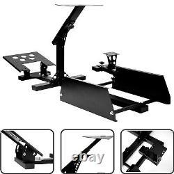 Racing wheel stand simulator seat cockpit Adjustable steering wheel stand BLACK