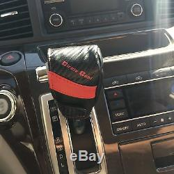 Red & Carbon Fiber Seat Cover Shift Knob Steering Wheel PVC Leather Sedan 34001d