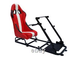 Red Driving Game Sim Chair Racing Seat Console PC F1 VR Steering Wheel Pedals