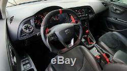SEAT LEON III & Ibiza Flat bottom Flattened top Thumbs INCLUDE Steering wheel
