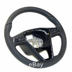 Seat Ateca Ibiza Leon 5F Toledo Mk4 multifunction steering wheel leather black
