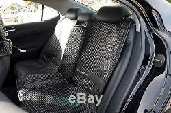 Seat Cover Shift Knob Belt Steering Wheel All Black PVC Leather Luxury Upgrade 3