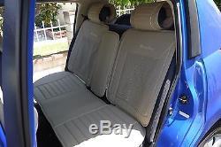 Seat Cover Shift Knob Belt Steering Wheel Beige PVC Leather Sedan Upgrade 31021d