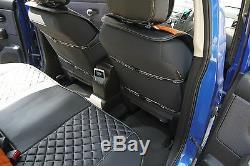 Seat Cover Shift Knob Belt Steering Wheel Black Orange PVC Leather Car Upgrade 4